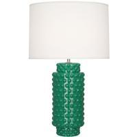 Robert Abbey EG800 Dolly 28 inch 150 watt Emerald Green Table Lamp Portable Light