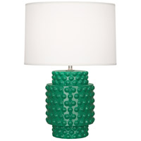 Dolly 21 inch 150 watt Emerald Glazed Textured Ceramic Accent Lamp Portable Light