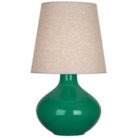 Robert Abbey EG991 June 31 inch 150 watt Emerald Green Table Lamp Portable Light in Buff Linen