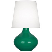 Robert Abbey EG993 June 31 inch 150 watt Emerald Green Table Lamp Portable Light in Oyster Linen