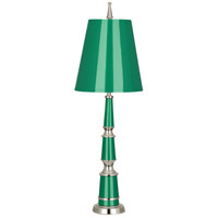 Robert Abbey G600 Jonathan Adler Versailles 25 inch 60 watt Emerald Lacquer with Polished Nickel Accent Lamp Portable Light in Emerald With Matte
