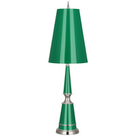 Robert Abbey G601 Jonathan Adler Versailles 33 inch 100 watt Emerald Lacquer with Polished Nickel Table Lamp Portable Light in Emerald With Matte