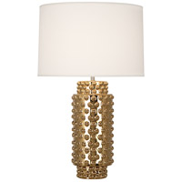 Robert Abbey G800 Dolly 28 inch 150 watt Gold Metallic Glaze Table Lamp Portable Light in Fondine