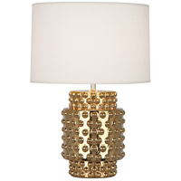 Robert Abbey G801 Dolly 21 inch 150 watt Gold Metallic Glaze Accent Lamp Portable Light in Fondine