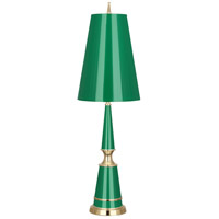 Robert Abbey G901 Jonathan Adler Versailles 33 inch 100 watt Emerald Lacquer with Modern Brass Table Lamp Portable Light in Emerald With Matte Gold