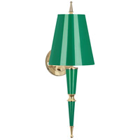 Robert Abbey G903 Jonathan Adler Versailles 1 Light 2 inch Emerald Lacquer with Modern Brass Wall Sconce Wall Light in Emerald With Matte Gold