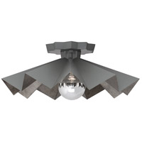 Robert Abbey GRY70 Rico Espinet Bat 1 Light 6 inch Matte Charcoal Painted Flushmount Ceiling Light
