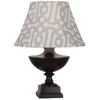 Robert Abbey JV47G Freya Al Fresco 23 inch 100 watt Java Brown Painted Accent Lamp Portable Light in Gray Jacquard Sunbrella