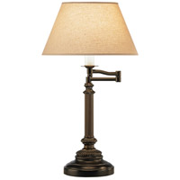 Robert Abbey L385X Abbey Bronze 24 inch 60 watt Victorian Bronze Table Lamp Portable Light in Parchment Saki