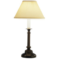 Robert Abbey L386 Abbey Bronze 25 inch 150 watt Victorian Bronze Table Lamp Portable Light in Natural Crystal Pleat thumb