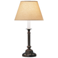 Robert Abbey L386X Abbey Bronze 25 inch 150 watt Victorian Bronze Table Lamp Portable Light in Parchment Saki