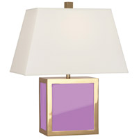 Robert Abbey LA840 Jonathan Adler Barcelona 20 inch 100 watt Polished Brass with Lavender Opaque Acrylic Table Lamp Portable Light