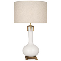 Robert Abbey LY992 Athena 32 inch 150 watt Lily with Aged Brass Table Lamp Portable Light thumb