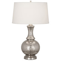 Robert Abbey M3323 Glass Harriet 27 inch 150 watt Polished Nickel Table Lamp Portable Light in Antique Mercury Glass