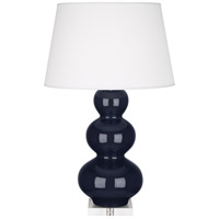 Robert Abbey MB43X Triple Gourd 33 inch 150 watt Midnight Blue with Lucite Table Lamp Portable Light