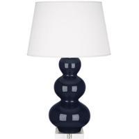 Robert Abbey MB43X Triple Gourd 33 inch 150 watt Midnight Blue Table Lamp Portable Light in Lucite