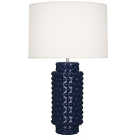 Robert Abbey MB800 Dolly 28 inch 150 watt Midnight Blue Glazed Textured Ceramic Table Lamp Portable Light thumb
