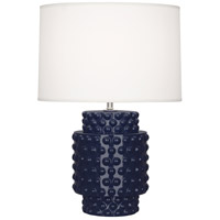 Robert Abbey MB801 Dolly 21 inch 150 watt Midnight Blue Glazed Textured Ceramic Accent Lamp Portable Light in Fondine thumb
