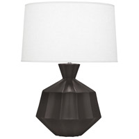 Orion 27 inch 150 watt Matte Coffee Table Lamp Portable Light, Polished Nickel Accents