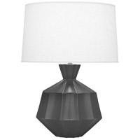 Robert Abbey MCR17 Orion 27 inch 150 watt Matte Ash Table Lamp Portable Light Polished Nickel Accents