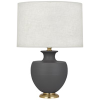 Robert Abbey MCR21 Michael Berman Atlas 25 inch 150 watt Matte Ash with Modern Brass Table Lamp Portable Light