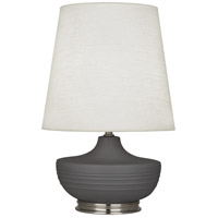 Robert Abbey MCR23 Michael Berman Nolan 28 inch 150 watt Matte Ash with Dark Antique Nickel Table Lamp Portable Light