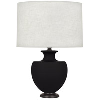 Robert Abbey MDC22 Michael Berman Atlas 25 inch 150 watt Matte Dark Coal with Deep Patina Bronze Table Lamp Portable Light