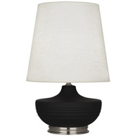 Robert Abbey MDC23 Michael Berman Nolan 28 inch 150 watt Matte Dark Coal with Dark Antique Nickel Table Lamp Portable Light