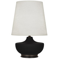 Robert Abbey MDC25 Michael Berman Nolan 28 inch 150 watt Matte Dark Coal with Deep Patina Bronze Table Lamp Portable Light