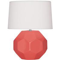 Robert Abbey ML01 Franklin 24 inch 150.00 watt Melon Glazed Ceramic Table Lamp Portable Light
