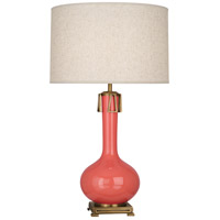 Robert Abbey ML992 Athena 32 inch 150 watt Melon with Aged Brass Table Lamp Portable Light Aged Brass Accents