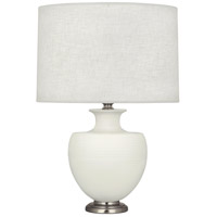 Robert Abbey MLY20 Michael Berman Atlas 25 inch 150 watt Matte Lily with Dark Antique Nickel Table Lamp Portable Light