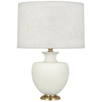 Robert Abbey MLY21 Michael Berman Atlas 25 inch 150 watt Matte Lily with Modern Brass Table Lamp Portable Light