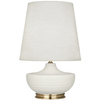 Robert Abbey MLY24 Michael Berman Nolan 28 inch 150 watt Matte Lily with Modern Brass Table Lamp Portable Light