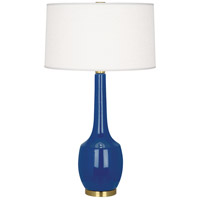 Robert Abbey MR701 Delilah 34 inch 150 watt Marine Blue with Antique Brass Table Lamp Portable Light