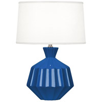 Robert Abbey MR989 Orion 18 inch 60 watt Marine Blue Accent Lamp Portable Light Polished Nickel Accents