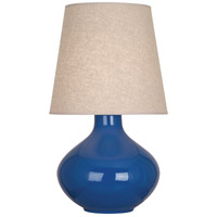 Robert Abbey MR991 June 31 inch 150 watt Marine Blue Table Lamp Portable Light in Buff Linen