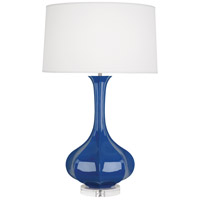 Robert Abbey MR996 Pike 33 inch 150 watt Marine Blue Table Lamp Portable Light in Lucite