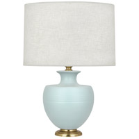 Robert Abbey MSB21 Michael Berman Atlas 25 inch 150 watt Matte Sky Blue with Modern Brass Table Lamp Portable Light