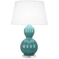 Robert Abbey MT997 Williamsburg Randolph 31 inch 150 watt Blue Green Table Lamp Portable Light in Lucite Mayo Teal
