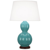 Robert Abbey MT998 Williamsburg Randolph 31 inch 150 watt Mayo Teral with Walnut Wood Table Lamp Portable Light in Mayo Teal