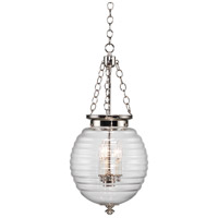 Robert Abbey N616 Beehive 3 Light 11 inch Polished Nickel Pendant Ceiling Light in Clear Glass
