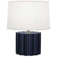 Robert Abbey N891 Anna 18 inch 100 watt Faux Navy Snakeskin with Polished Brass Table Lamp Portable Light thumb