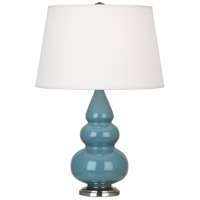 Robert Abbey OB32X Small Triple Gourd 24 inch 150 watt Steel Blue Accent Lamp Portable Light in Antique Silver