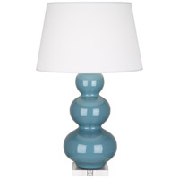 Robert Abbey OB43X Triple Gourd 33 inch 150 watt Steel Blue Table Lamp Portable Light in Lucite
