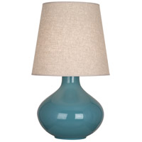 Robert Abbey OB991 June 31 inch 150 watt Steel Blue Table Lamp Portable Light in Buff Linen
