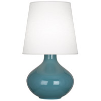 Robert Abbey OB993 June 31 inch 150 watt Steel Blue Table Lamp Portable Light in Oyster Linen