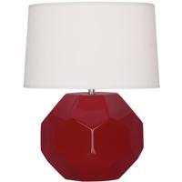 Robert Abbey OX01 Franklin 24 inch 150.00 watt Oxblood Glazed Ceramic Table Lamp Portable Light