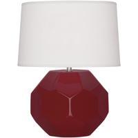 Robert Abbey OX02 Franklin 16 inch 60.00 watt Oxblood Glazed Ceramic Accent Lamp Portable Light