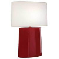 Robert Abbey OX03 Victor 26 inch 100.00 watt Oxblood Glazed Ceramic Table Lamp Portable Light